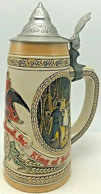 $ CDN46.60 • Buy Anheuser Busch Budweiser Beer Stein  C  Series Lidded Limited Edition Cooperage