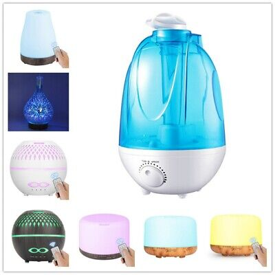 AU25.49 • Buy 100ml-4LAromatherapy Diffuser Aroma Essential Oil Ultrasonic Air Humidifier Mist
