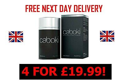 CABOKI Hair Loss Fibers 25g - 4 Bottles For £19.99 + FREE UK NEXT DAY DELIVERY • 19.99£