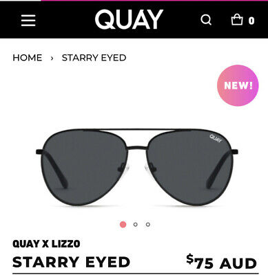 AU42 • Buy New - ***NEW-STARRY EYED QUAY X LIZZO STARRY EYED Black Sunglasses ***