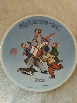 $ CDN6.65 • Buy 1991 Norman Rockwell  Santa's Helper  Collector Plate Edwin M.s Knowles