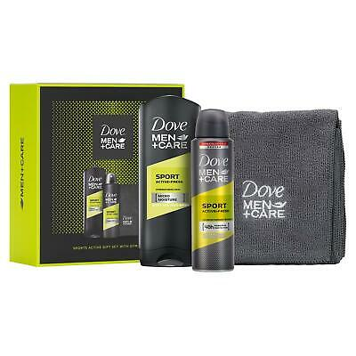 Dove Men + Care Sports Gift Set, With Towel, Shower Gel & Deodorant, Boys & Dads • 5.49£
