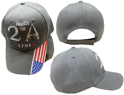 $ CDN15.95 • Buy Protect The 2A 2nd Amendment 1791 USA Flag Bill Embroidered Grey Gray Cap Hat