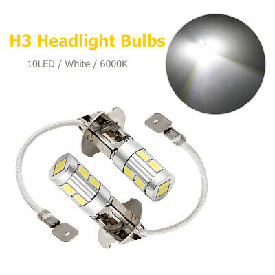 AU21.69 • Buy 2x H3 Super Bright 10 SMD 5630 LED Car Fog DRL Driving Light Lamp Globe White