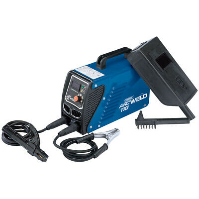Draper 100amp 230V GASLESS Inverter Tig ARC Welder Welding Kit Brush Face Mask  • 99£