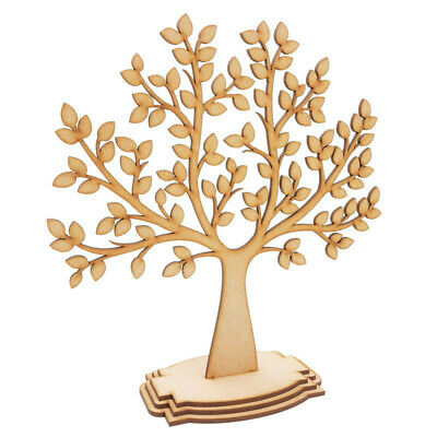 Wooden Family Tree Freestanding Craft Shapes Decor Mdf Wedding Christmas Gift • 5.99£