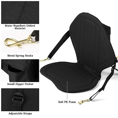 £22.99 • Buy Kayak Seat Adjustable Padded Canoe Back Rest Back Support Cushion Fish Boat R4A8