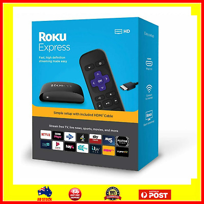 AU91.15 • Buy Roku Express HD Streaming Media Player Netflix Prime Video Disney+ Apple TV