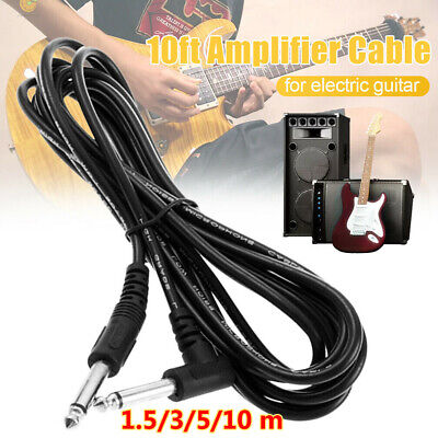 $ CDN8.93 • Buy Amp Cord Adapter Right Angle Musical Instrument Electric Guitar Amplifier Cable