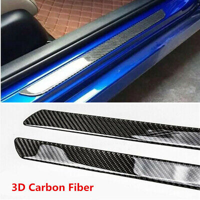 $39.99 • Buy Parts Accessories Car Carbon Fiber Door Sill Protector Scuff Plate Trim Stickers