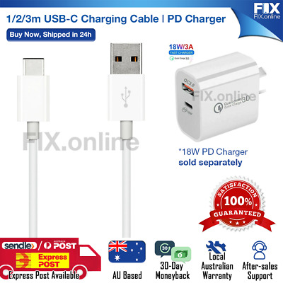AU9.99 • Buy Fast Speed Charging USB Type C Data PD Charger Cable For Samsung Google LG OPPO