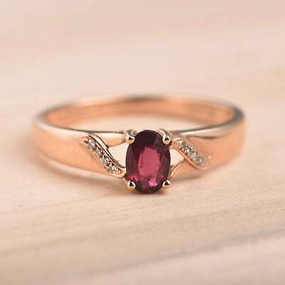 2ct Oval Cut Pink Ruby Solitaire Promise Women Engagement Ring 14k RoseGold Over • 99.99£