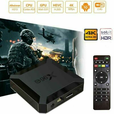 AU43.69 • Buy X96Q 4K Android 10.0 Core 2GB+16GB TV BOX 2.4G WIFI HDMI 3D UHD Home Media Film