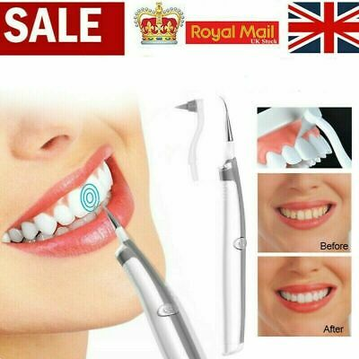 Electric Sonic Dental Tooth Stain Polisher Teeth Whitener Plaque Eraser Remover • 3.96£