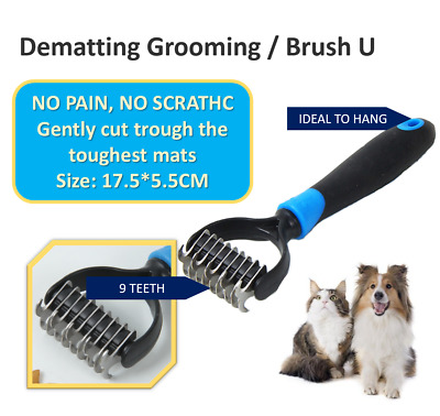 Professional Pet Dog Cat Comb Brush Grooming Undercoat Rake Comb Dematting Tools • 6.25£