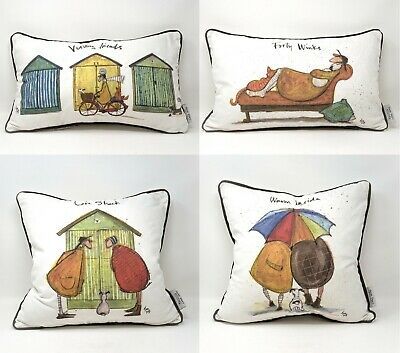 £24.99 • Buy Sam Toft Cushion Pillow Visiting Friends Forty Winks Warm Inside Love Shack