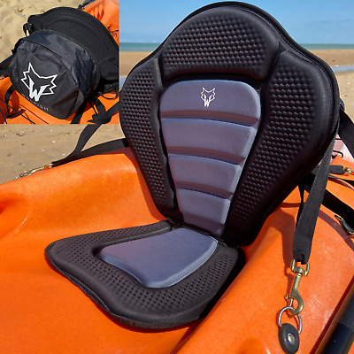 £34.99 • Buy Padded Kayak Seat With Removable Back Pack Bag / Back Rest / WOLFISH SPORTS