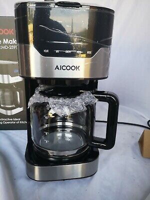 View Details Aicook Coffee Maker Drip Screen Touch With Watch Programmable 1.5 Litres/12 Cups • 160.00£