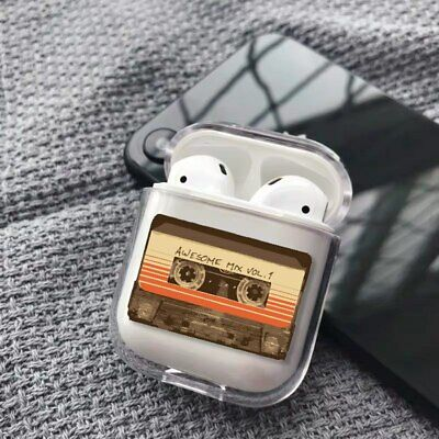 $ CDN8.44 • Buy Old School Tape Cassette Music 90's Clear Plastic Cover Case For Apple AirPods