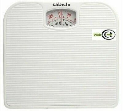 Heavy Duty White Steel Mechanical Non-Slip Bathroom Personal Weigh Scale • 8.99£
