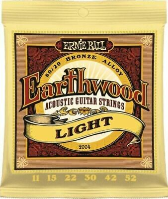 AU12.95 • Buy ERNIE BALL 2004 Acoustic Guitar Strings EARTHWOOD 80/20 Bronze Light 11-52