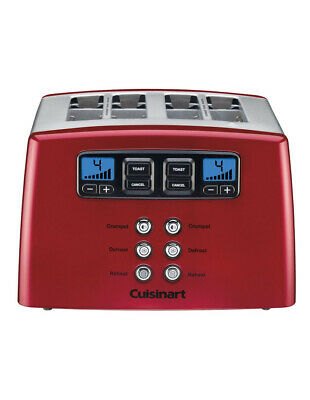 AU75 • Buy Cuisinart Touch To Toast Leverless 4 Slice Toaster Red CPT-440MRXA