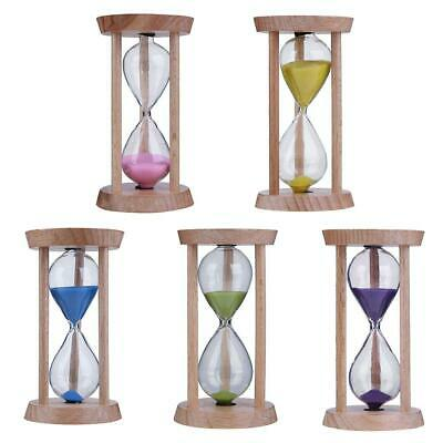 AU5.62 • Buy Wooden Sand Clock 3 Minutes Hourglass Sandglass Toothbrush Timer Kids Gift