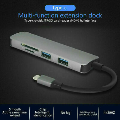 AU18.04 • Buy Type C To USB3.0 HDMI 4K SD/TF Reader OTG Hub Adapter For Macbook Air Pro Laptop