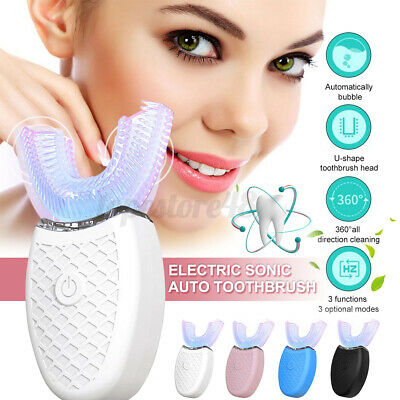 AU20.39 • Buy ❤️ Automatic 360°Electric Sonic Toothbrush Teeth Whitening Silicone Brush USB ℘