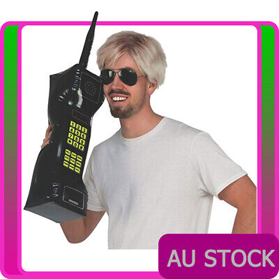 AU14.24 • Buy 28  Inflatable Mobile Phone 80s Retro 1980s Party Blow Up Costume Accessories