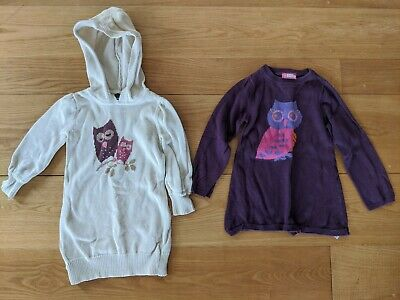 Owl Jumpers X2. Girls Aged 3. Gap And Sweet Millie • 5£