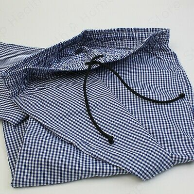 Super High Quality Chef White And Blue Check Trousers. 100% Cotton Kitchen Wear • 14.99£