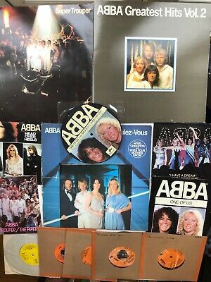 ABBA LP's & 45's, Assorted 1 LOT Of 10 Singles (1 Pic Disc ) &  3 LP's  • 14.99£