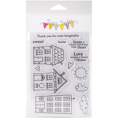 Jane's Doodles Clear Stamps 4 X6 -Home Sweet Home, 742613 • 12.30£