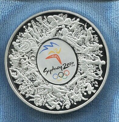 AU1750 • Buy 2000 1kg Coloured Silver $30 Sydney Olympic Coin Wooden In Display Case