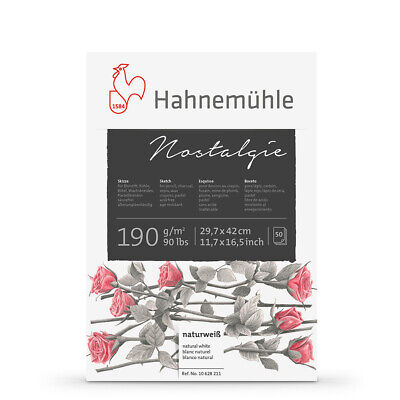 £28.27 • Buy Hahnemuhle : Nostalgie Sketch Pad : 190gsm : 50 Sheets : Natural White : A3