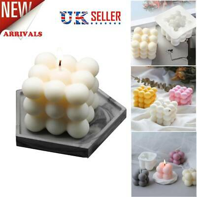 DIY Candles Mould Soy Wax Candle Mold Aromatherapy Candle 3D Silicone Mould UK • 4.59£