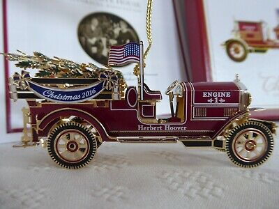 NEW 2016 White House Christmas Ornament: Herbert Hoover Fire Engine Truck • 21.15£