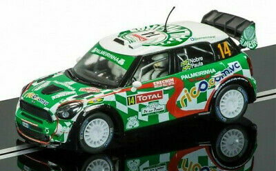 Scalextric C3523 BMW Mini Countryman WRC Monte Carlo Green New Boxed • 44.99£