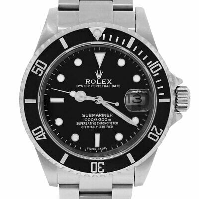 $ CDN11752.76 • Buy  Rolex 16610 Submariner Stainless Steel Black Dial Watch