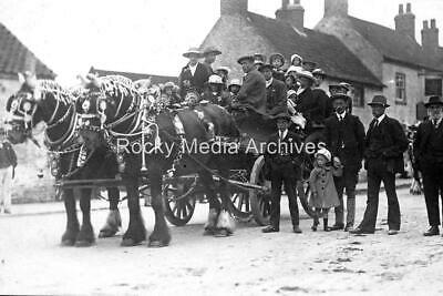 Dpl-96 Shire Horse And Cart, Kilham Nr Driffield, Yorkshire. Photo • 2.75£