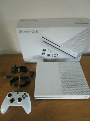 AU335 • Buy Microsoft XBox One S 500GB White Console Controller Cables Boxed Xb1 Xbox One