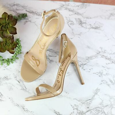 $ CDN65.48 • Buy Sam Edelman Ariella Strappy Nude Heels  8.5 NEW