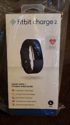 $ CDN120.01 • Buy New Fitbit Charge 2  Heart Rate Monitor Fitness Tracker. Black Band-Large.