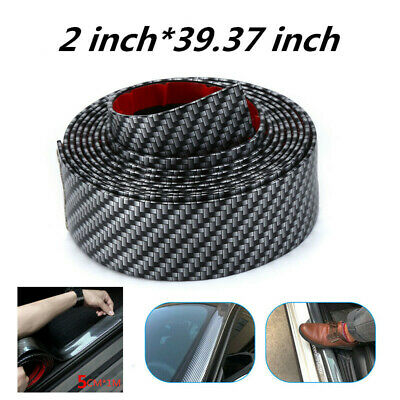 $16.30 • Buy Parts Accessories Carbon Fiber Rubber Styling Stickers Car Door Sill Protector