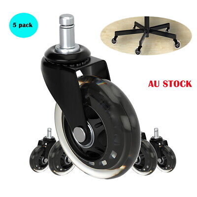 AU37.99 • Buy 5pcs Rollerblade Office Desk Chair Wheels Replacement Rolling Caster Grip Ring L