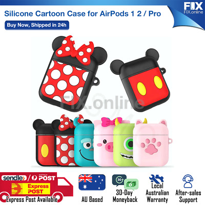 AU6.88 • Buy For Apple Airpods 1 &2 Cartoon Silicon Slim Skin Charging Case Rubber Cover