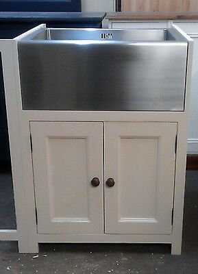 Pine Painted Kitchen Belfast/butlers Sink Unit/farrow And Ball Kitchens Bespoke • 280£