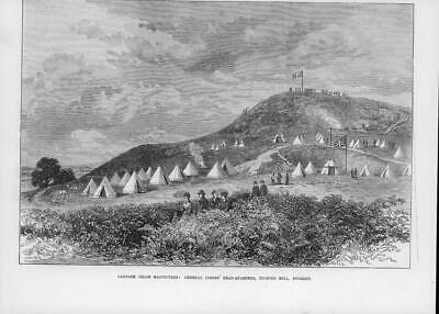 1873 Antique Print - STAFFORDSHIRE Cannock Chase Manoeuvres Camp Lyson  (95) • 14.50£