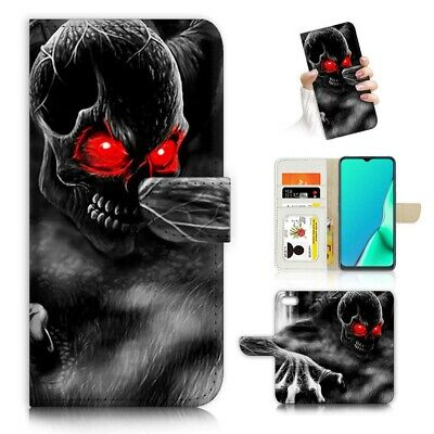 AU12.99 • Buy ( For Huawei Y5 Prime [2018] ) Wallet Case Cover AJ23872 Horror Skull